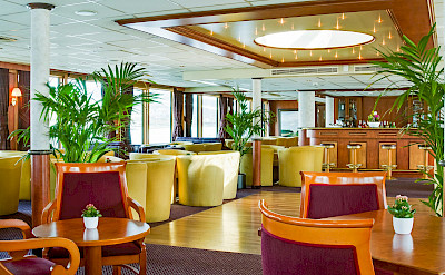 Lounge on the Fortuna | Bike & Boat Tours