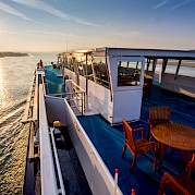 Sundeck on the Fortuna | Bike & Boat Tours