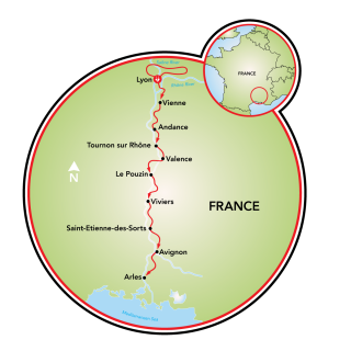 Burgundy to Provence Map