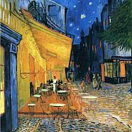 Cafe Terrace at Night, Arles, France by Van Gogh 1888.