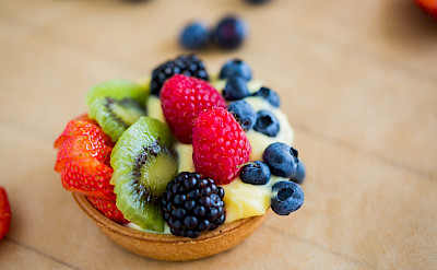 Custard tarts - yummy French desserts await! Photo via TO