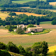 Vast vineyard estates cover the landscape from Burgundy to Provence, France. Photo via TO