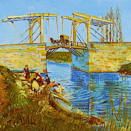"""Langlois Bridge in Arles with Women Washing"" painted by Van Gogh in 1888. CC0"