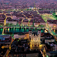 Overlooking the Lyon Cathedral and surroundings in Lyon, France. Photo via TO