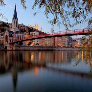 Lyon at the confluence of the Rhône & Saône Rivers in region Auvergne-Rhône-Alpes, France. Photo via TO
