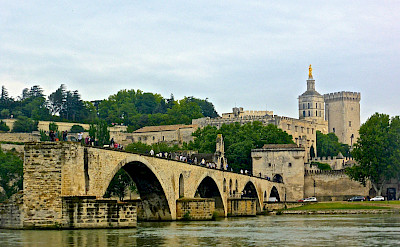 Pont and Palais des Papes (Pope's Palace) in Avignon, France. Photo via TO