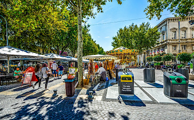 Sample some local treats at the outdoor markets in Provence, France. Photo via TO