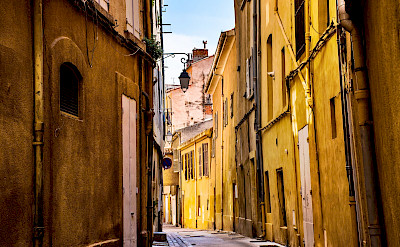 Quiet street through one of many villages in southern France. Photo via TO