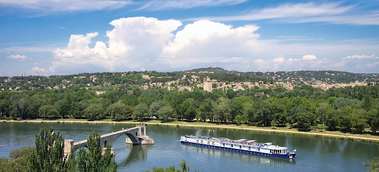 The Provence Boat near Avignon