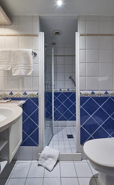 Bathroom in a single cabin