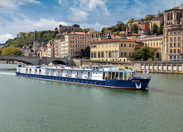 The Provence in the water near Lyon for Bike & Boat Tours in France