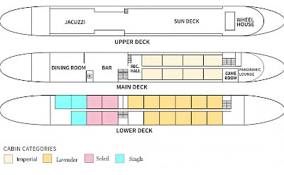 Deck Plan - Provence | Bike & Boat Tours