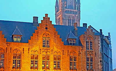 Dining on the famous square in Bruges, East Flanders, Belgium. Photo via Flickr:Dennis Jarvis