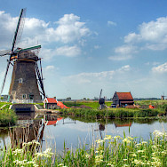 Windmills aplenty to see in Kinderdijk, the Netherlands. Flickr:John Morgan