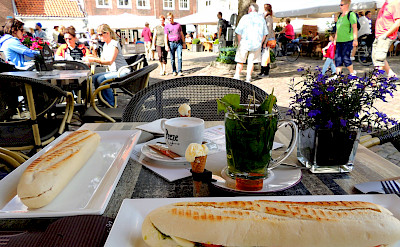 Lunch in Veere, the Netherlands. Flickr:David van der Mark