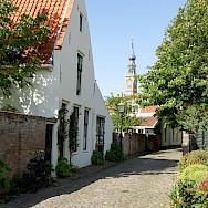 Church steeple in Veere, the Netherlands. Flickr:Rolf Schmitz