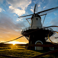 Windmill at sunset in Veere, region Walcheren, province Zeeland in the Netherlands. Flickr:Dynphoto