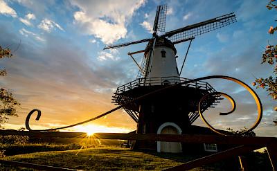 Windmill at sunset in Veere, region Walcheren, province Zeeland in the Netherlands. Flickr:Dynphoto