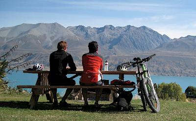 Bike rest in Braemar Station, New Zealand. Flickr:Mountain Bike Mt Cook