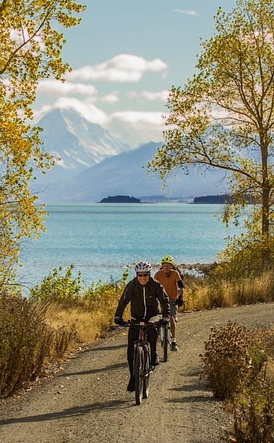 Plenty of lakes on the New Zealand Alps to Ocean Bike Tour.