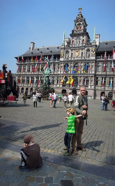 Sightseeing at the <i>Stadhuis</i> in Antwerp, Flanders, Belgium. Flickr:Stephen Whiffin