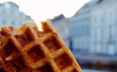 Belgian Waffles in Belgium. Flickr:Filip de Blaere
