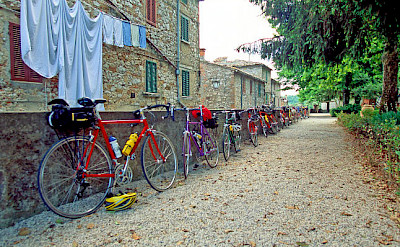 Bike rest on the Venice to Florence Italy Bike Tour.