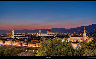 Florence skyline on a calm evening in Italy. Flickr:Joe deSousa