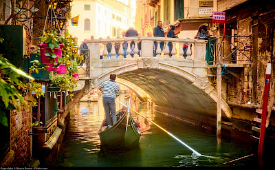 Gondola ride through Venice, Italy. Flickr:Moyan Brenn