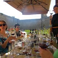 Wine tasting in Tuscany, Italy.