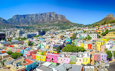 The famous Bo-Kaap neighborhood in Cape Town, South Africa. Wikimedia Commons:Skypixels