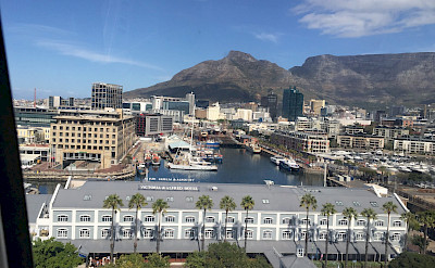 You can see Table Mountain from the Victoria & Albert Waterfront in Cape Town, South Africa. Photo:Gea