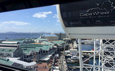 View from Ferris Wheel at Victoria & Albert Waterfront in Cape Town, South Africa. Photo:Gea