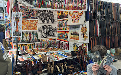 Great African art for sale at Greenmarket Square in Cape Town, South Africa. Photo:Gea