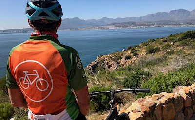 Hennie enjoying the view on the Garden Route in South Africa.