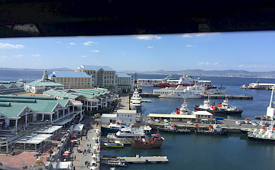 View from the ferris wheel on the Victoria & Albert Waterfront in Cape Town, South Africa. Photo:Gea