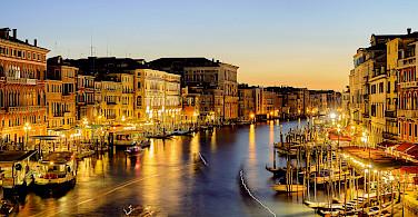 The famous Grand Canal in Venice, Veneto, Italy. Flickr:Pedro Szekely