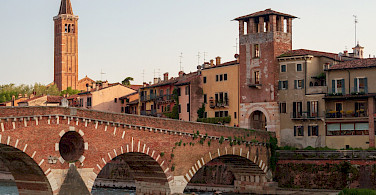 Lots of Italian history to explore in each Italian town en route. Here Verona. Photo via TO