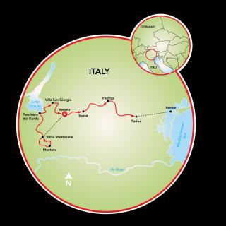 Lake Garda & the Veneto Map