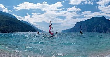 Windsurfing on Lake Garda, Italy. Flickr:Andrea Santoni