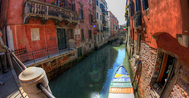 Canal ride on a gondola perhaps in Venice, Italy. Flickr:Martin Bauer