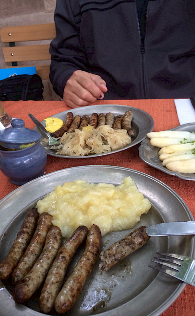 Bratwurst and spargel are Germany's more famous treats. Flickr:julie corsi