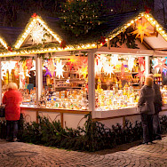 Christmas Market (Weihnachtsmarkt) in Münster, Germany.