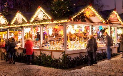 Christmas Market (Weihnachtsmarkt) in Münster, Germany.