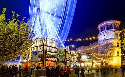 Christmas Market in Dusseldorf, Germany.