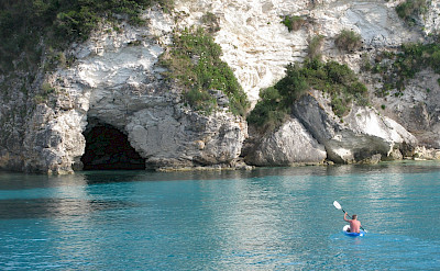 Kayaking on this great multi-adventure tour in Greece! Photo via TO