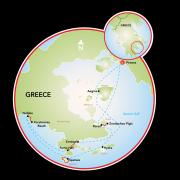 Multi-Adventure in the Saronic Gulf & the Peloponnese coastline Map