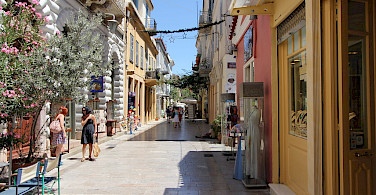 Sightseeing in medieval Nafplio, Peloponnese Island, Greece. Flickr:Tilemahosef Thimiadis