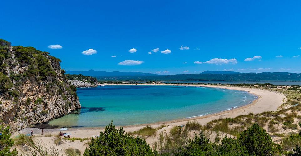 Crazy beaches on this Peloponnese and Saronic Islands Bike Tour! Photo via TO