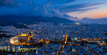 Nighttime in Athens, Greece. Flickr:Jose Nicdao